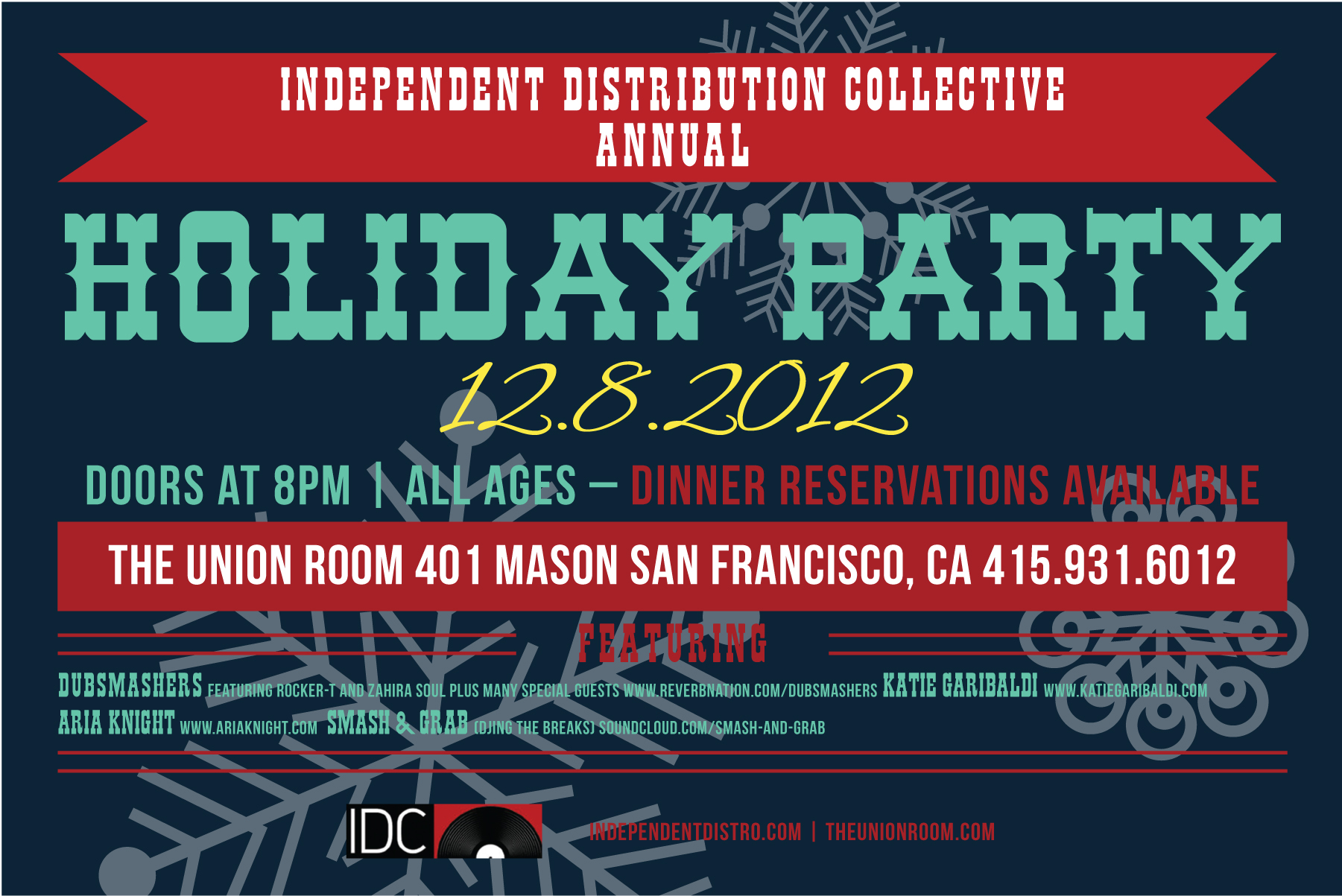 idc holiday party flyer independent distribution