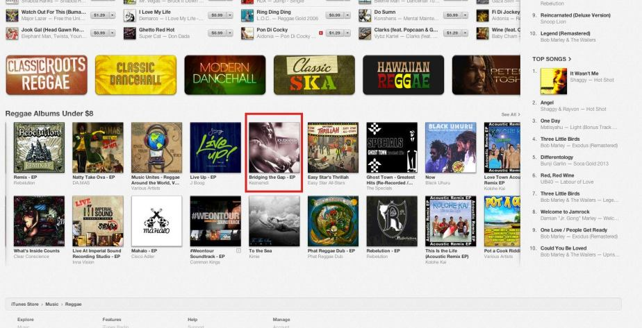 Keznamdi iTunes feature