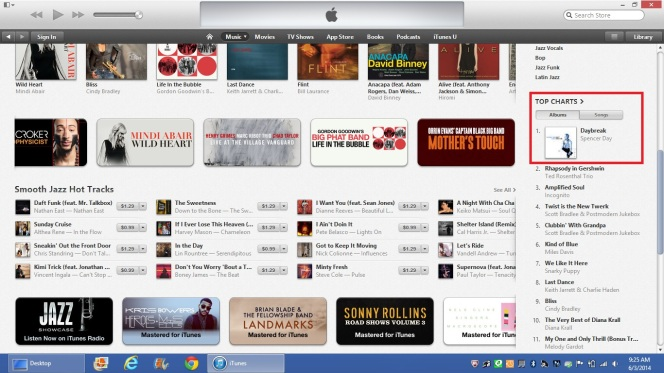 Spencer #1 on iTunes Jazz