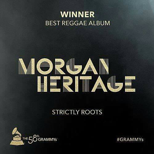 "Legendary IDC artist MORGAN HERITAGE is the 2016 GRAMMY WINNER for BEST REGGAE ALBUM ""STRICTLYROOTS"""