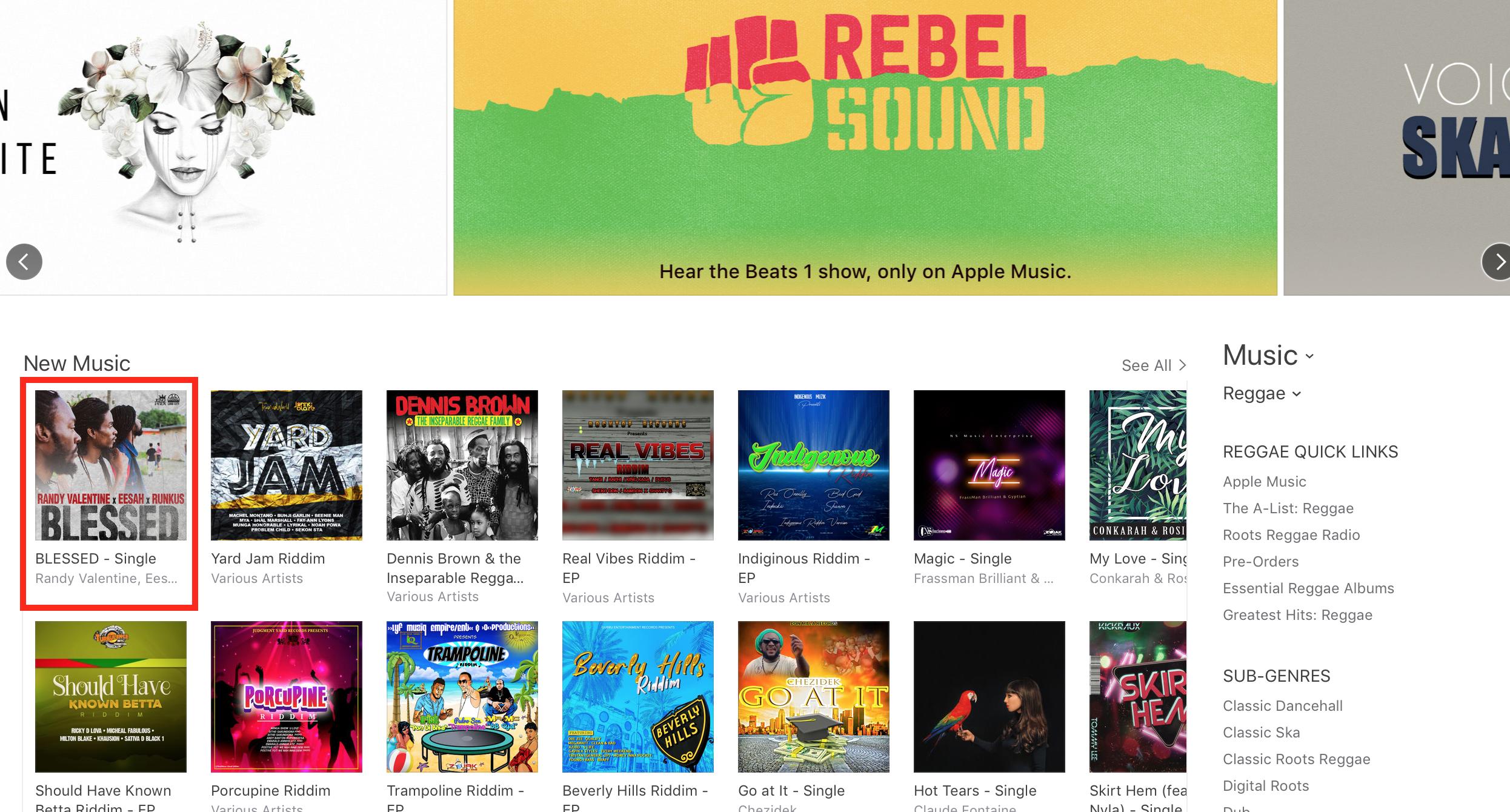 Blessed Randy_Eesah_Runkus iTunes Feature