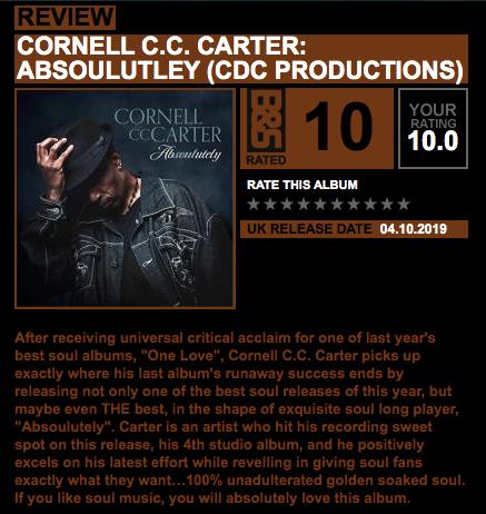 Blues & Soul magazine Cornelle C.C. Carter _Absoulutely_ REVIEW (ii)